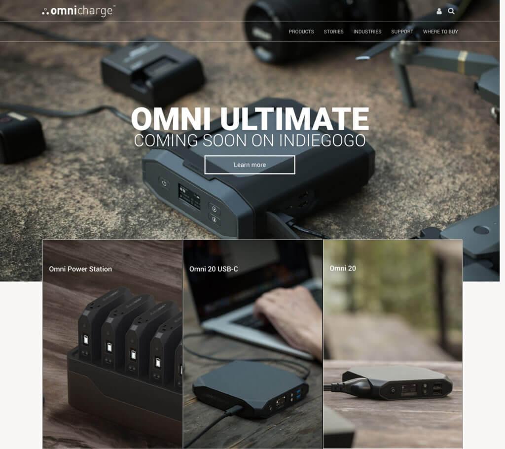 omnicharge- izrada web sajta za web prodavnicu