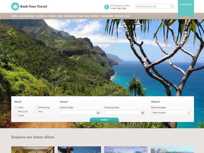 primer custom turistickog web sajta sa booking formom