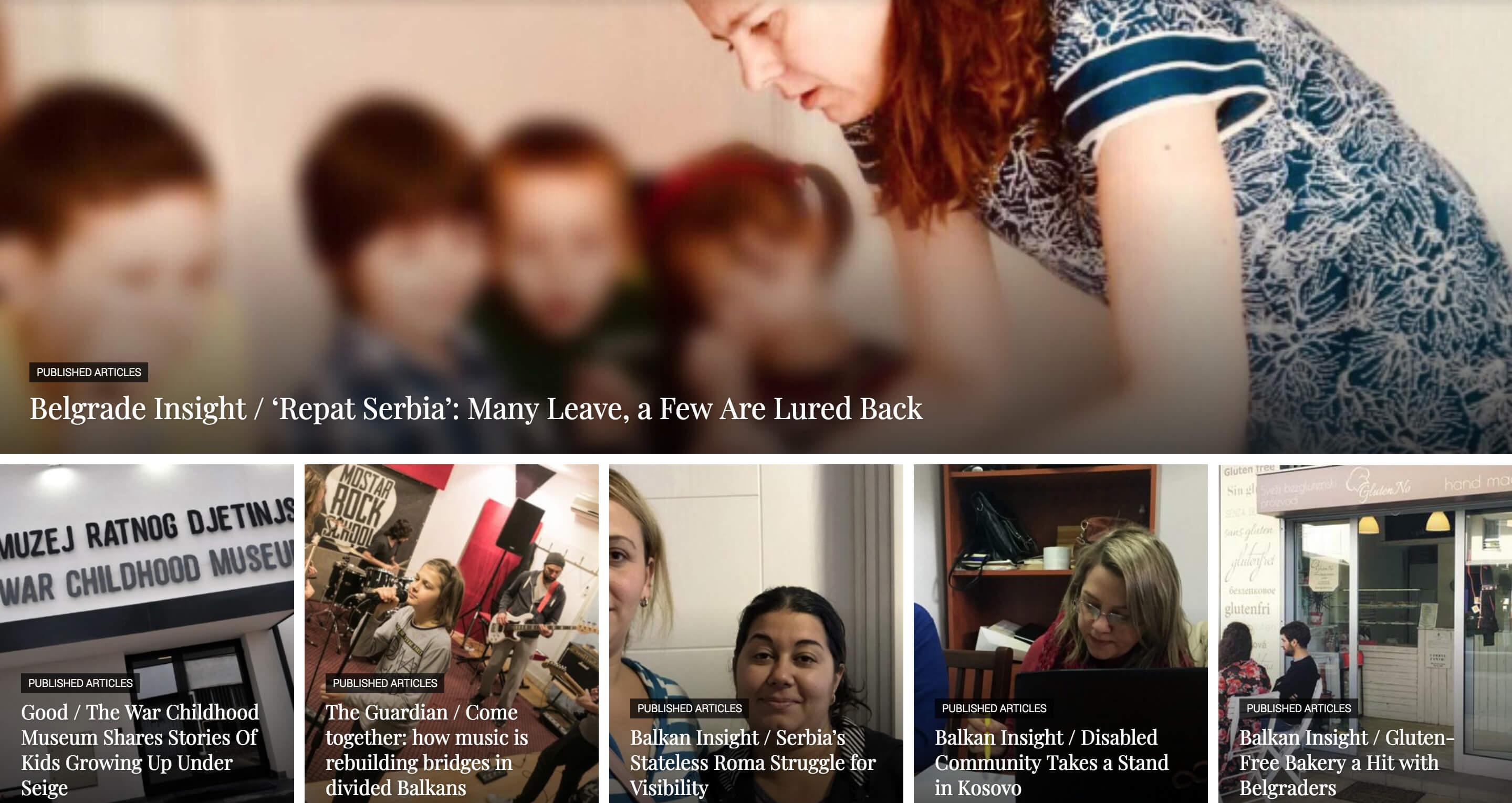 reporting balkans izrada web sajta za skolu